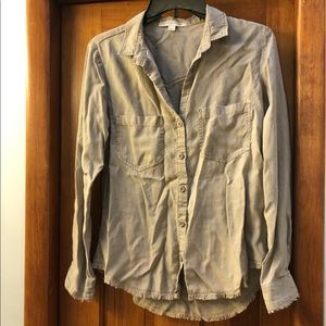 Anthro Cloth & Stone frayed button down shirt